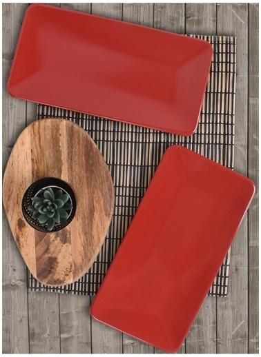 Keramika Servis Tabağı Kırmızı